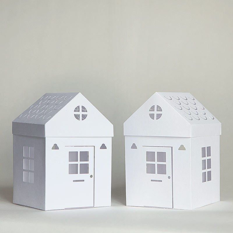 Tea light paper houses - with free templates and cut files