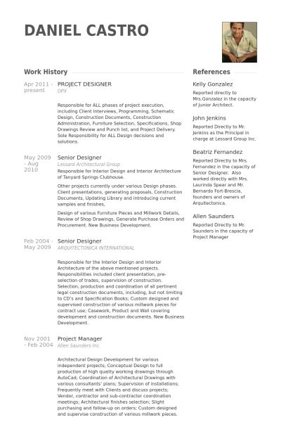 Project Designer Resume samples - VisualCV resume samples database