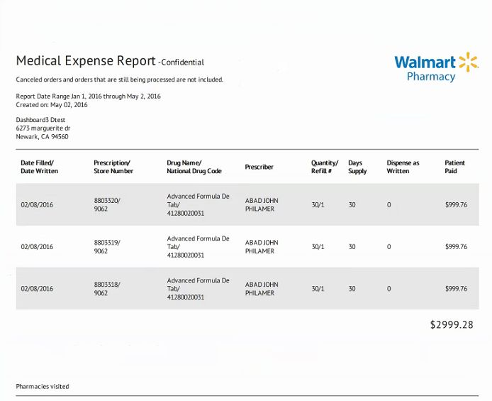Pharmacy: View Your Prescription History and Download Your Walmart ...