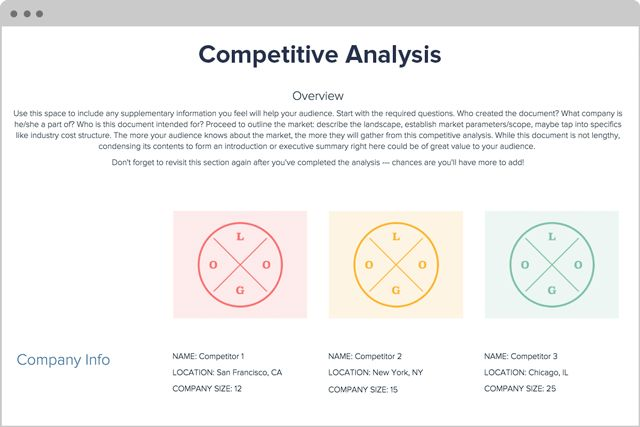 Competitive Analysis Framework by Xtensio (It's free!)