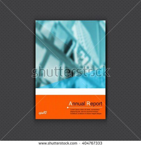 Vector Cover Template Defocused Financial District Stock Vector ...