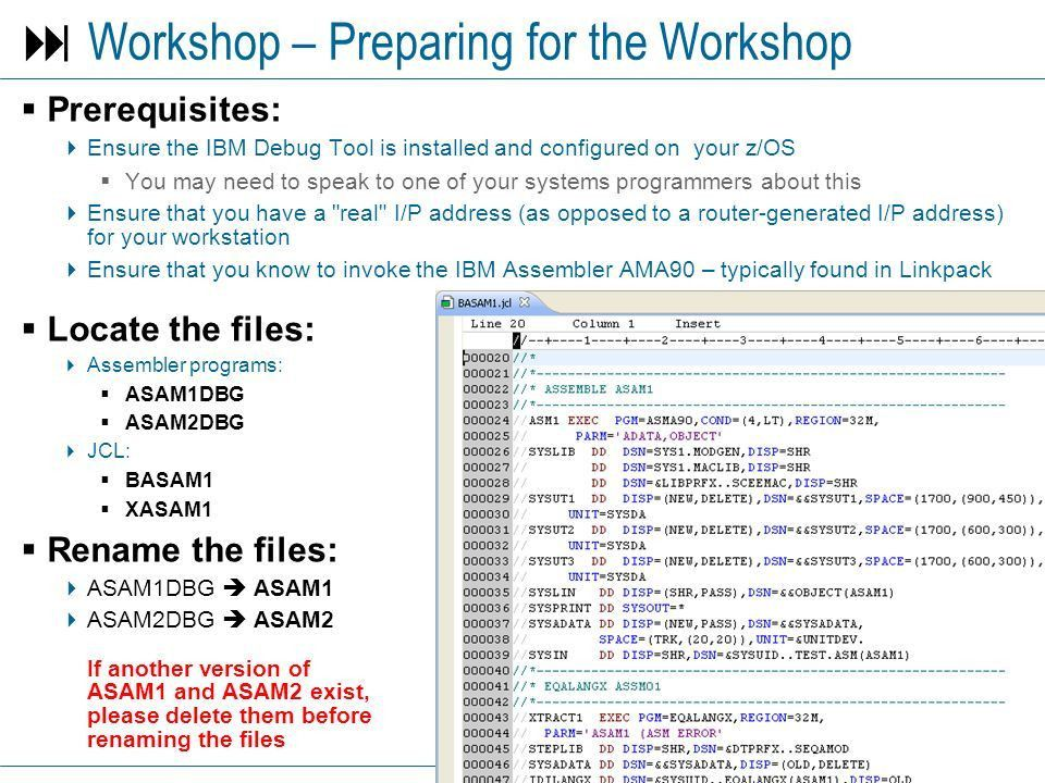 RDz Workbench – Debugging z/OS Assembler Applications - ppt download