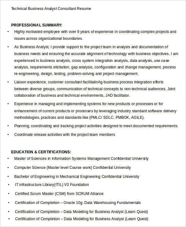 Simple Business Resume Templates - 19+ Free Word, PDF Documents ...
