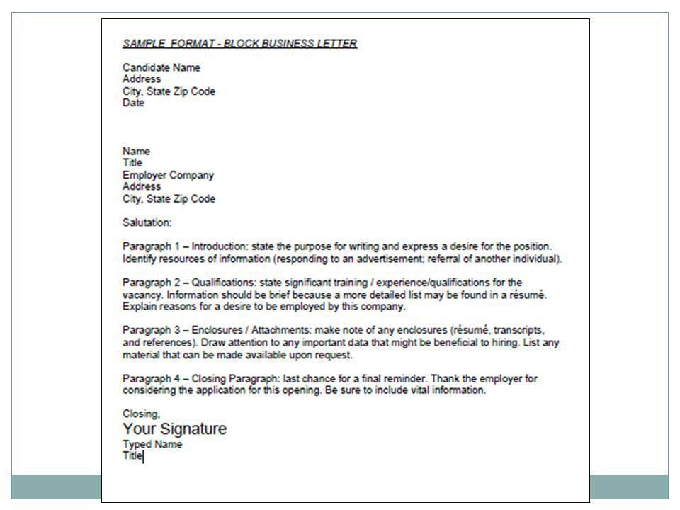 CAREER DEVELOPMENT FOLDER Application/Cover Letter. - ppt download
