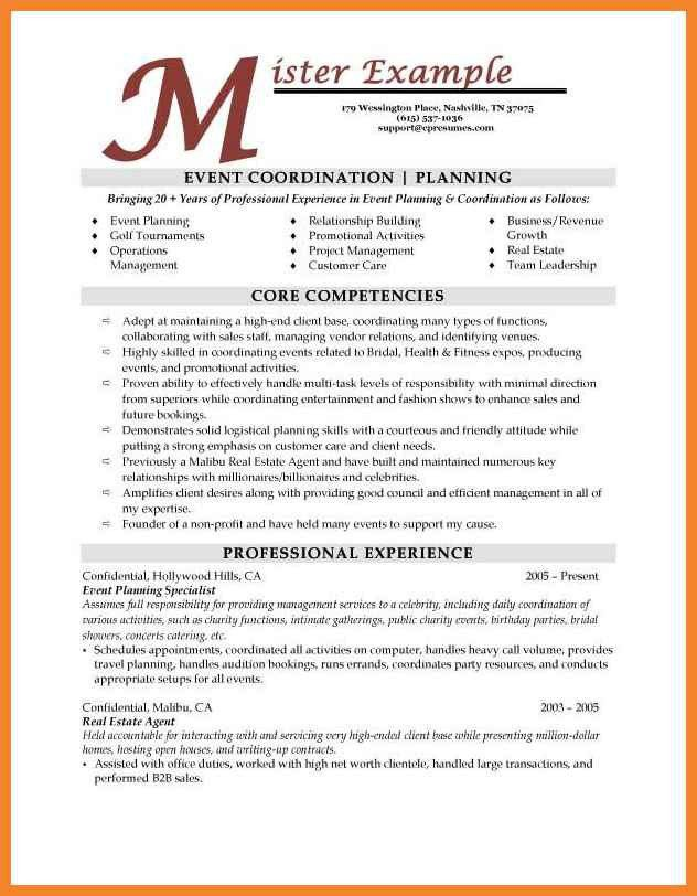Event Planner Resume Samples  Event Planner Resumes