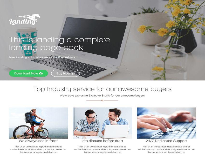 22+ Best Bootstrap landing page templates 2016 - ReadyTheme