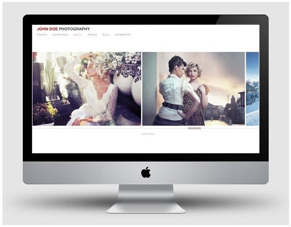 Free Portfolio Template for Fashion and Commercial Photographers ...