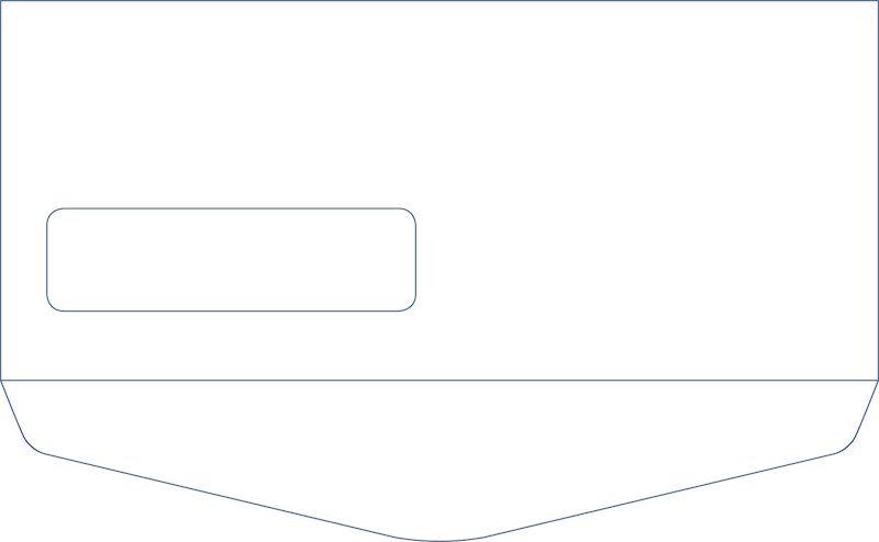 10 Standard Window Envelope Reverse Flap
