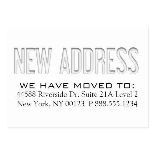 Change address Business Card Templates | BizCardStudio