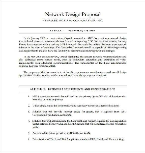 interior design proposal example
