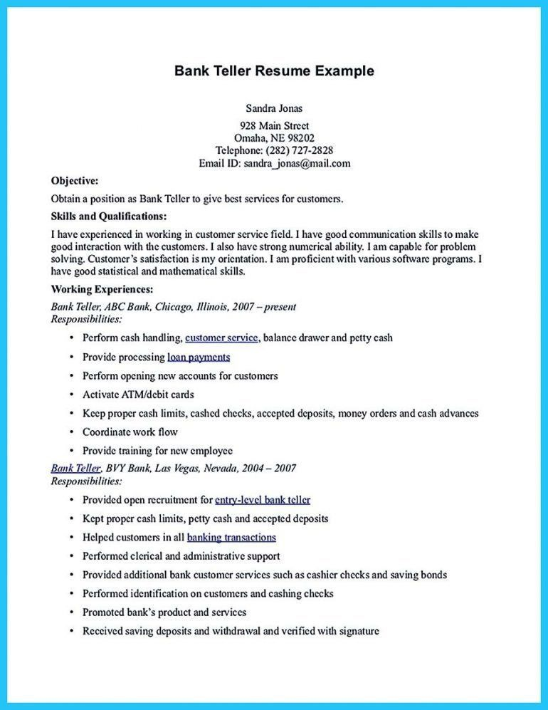 Banker Resume [Template.billybullock.us ]