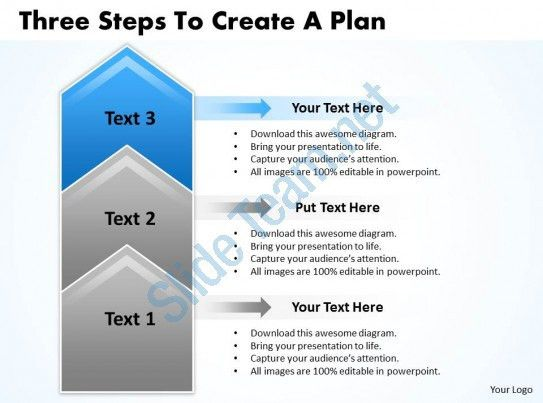 Business PowerPoint Templates three steps to create plan Sales PPT ...