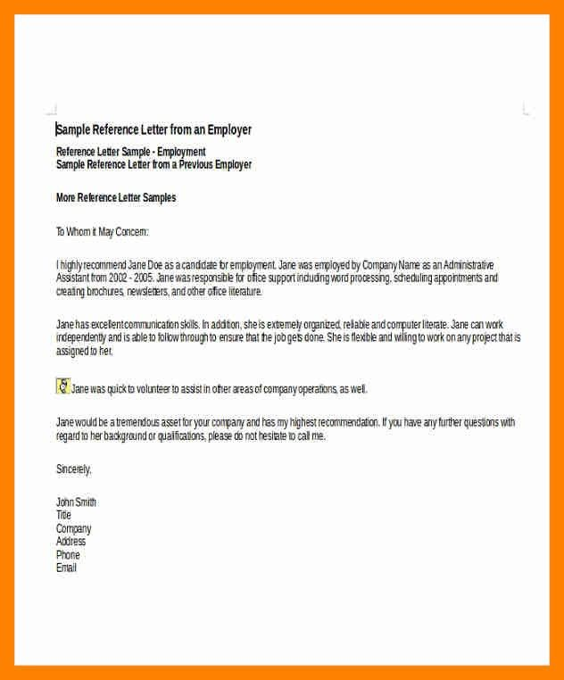 9+ reference letters for employee | doctors signature