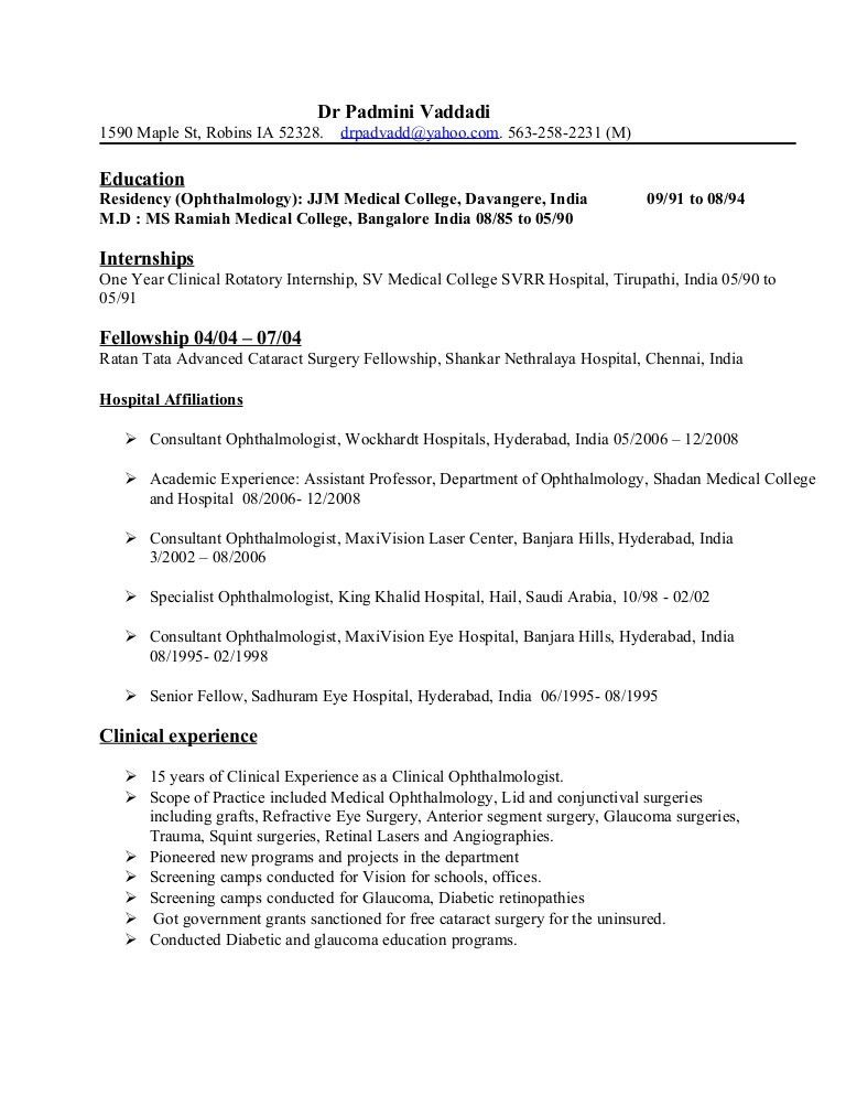 Resume Dr Padmini Vaddadi May 2016 (1)