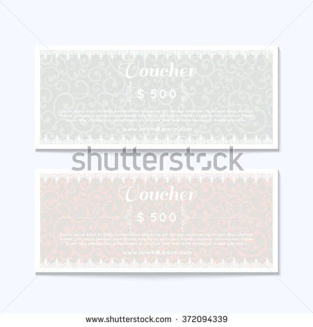 Gift Coupon Gift Card Discount Card Stock Vector 162007385 ...