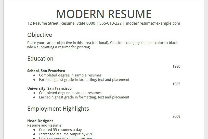 Download Resume Template Google Docs | haadyaooverbayresort.com