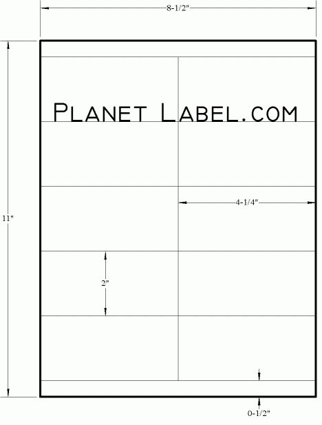 White Uncoated Labels - 2 x 4 1/4 Rectangle | LT625-10