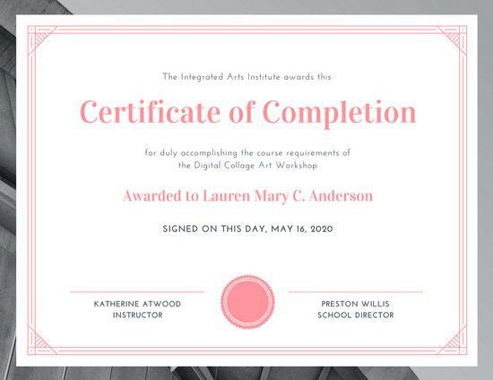 Certificate Templates - Canva