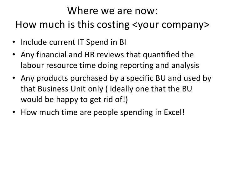 Sample Business Intelligence Strategy Executive Summary