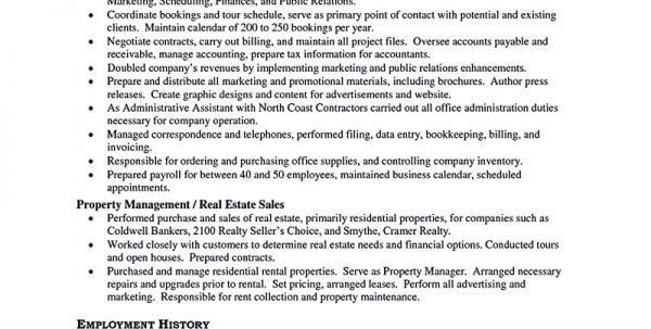 Assistant Property Manager Resume Objective Assistant Property ...