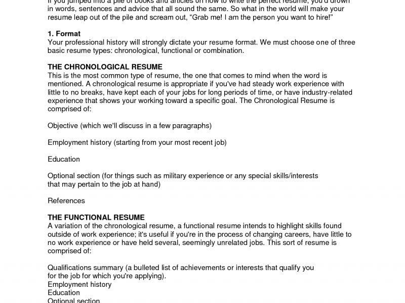 Format To Make A Resume. Format To Make Resume How To Make A ...