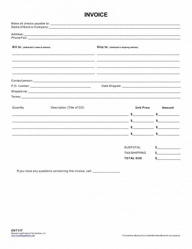 INVOICE - Nevada Legal Forms & Tax Services Inc.