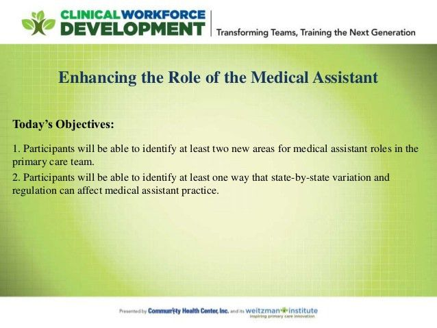 Advancing Team-Based Care: Enhancing the Role of the Medical Assistant