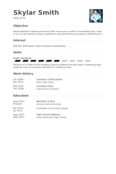 Courtesy Clerk Resume samples - VisualCV resume samples database