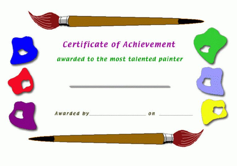 Certificate Maker Create for schools teacher excellence painter ...