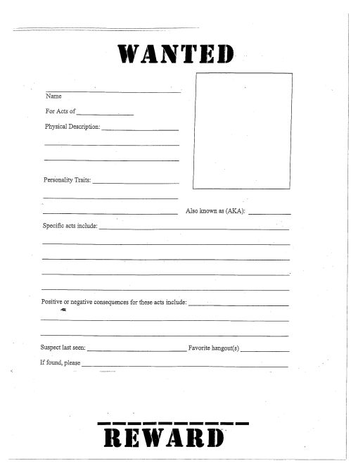 Free Wanted Poster Templates- Word,PDF – Template Section