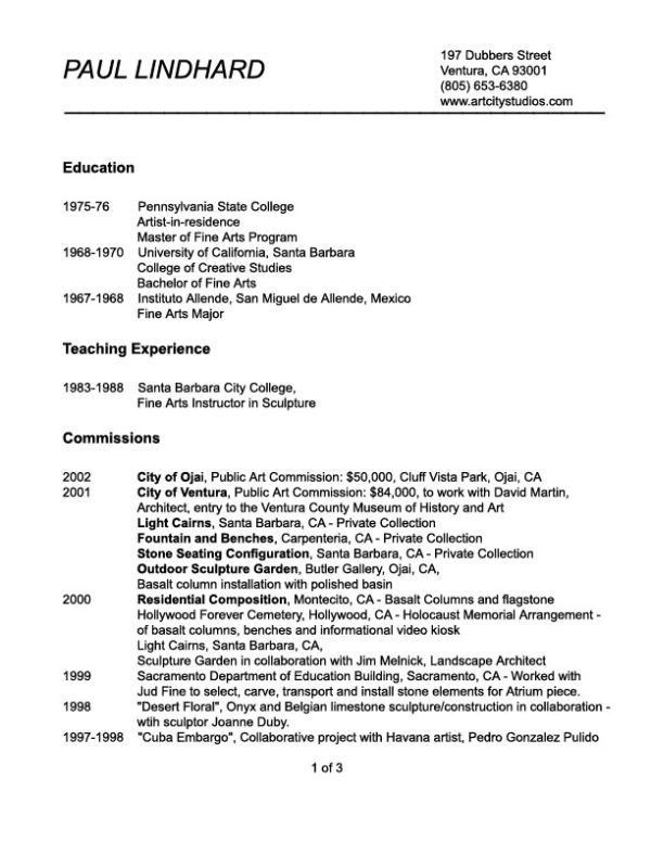 Simple and Effective Art Teacher Resume Example with Work History ...