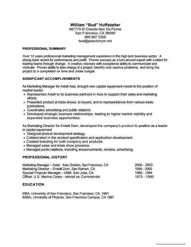Job Resume Examples. Job Resumes Samples Resume Sample ...