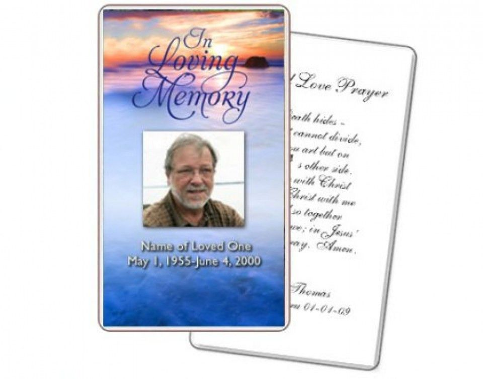 Funeral Cards Templates. 10 best prayer cards and templates images ...