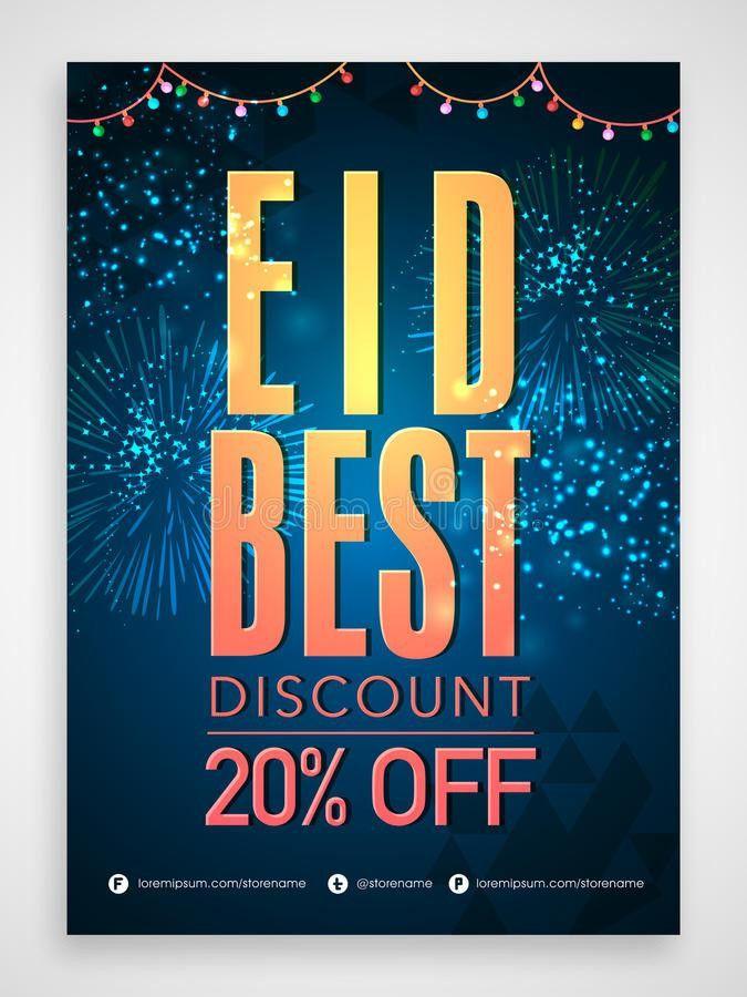 Eid Sale Poster, Banner Or Flyer Design. Stock Illustration ...