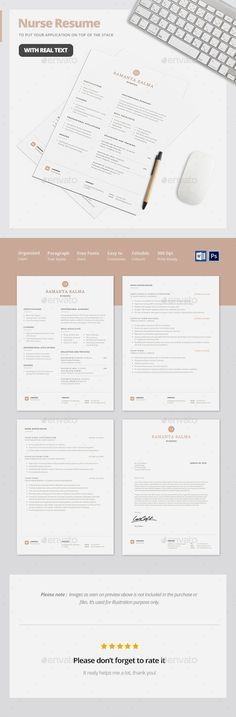 Nursing Resume Template / Nurse Resume Template that make it easy ...