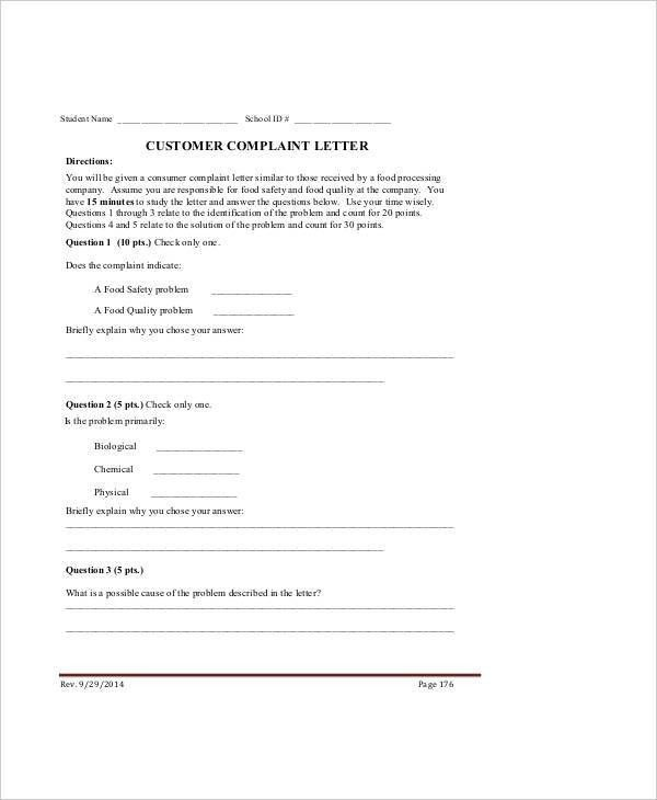 Complaint Letter Samples - 28+ Free Word, PDF Documents Download ...