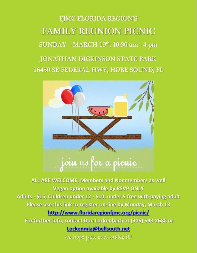 FL Family Reunion Picnic | Florida Region FJMC