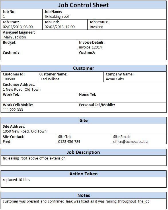Job Sheet Software - Jobs and Job Sheets | Amphis Software