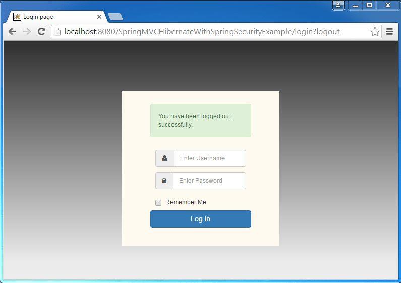 Spring MVC 4 + Spring Security 4 + Hibernate Example - WebSystique