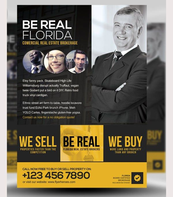 41+ PSD Real Estate Marketing Flyer Templates | Free & Premium ...