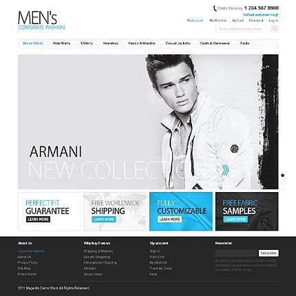 Website Templates Clothes Online Shop Fashion Custom Website ...