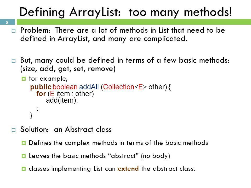 IMPLEMENTING ARRAYLIST COMP 103. RECAP  Comparator and ...
