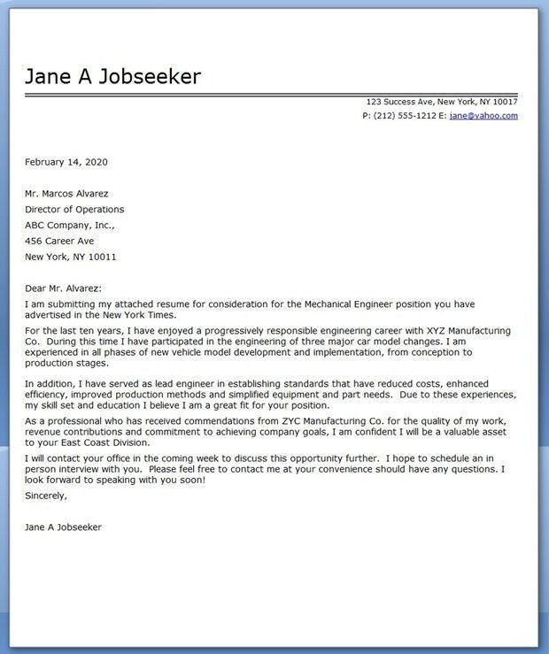 Cover Letter Samples Applying Job Good Resume Examples Marketing ...