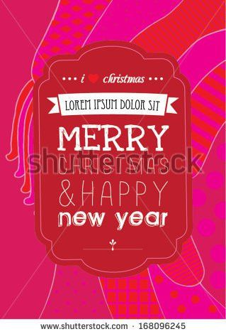 Merry Christmas Poster Template Vectorillustration Background ...