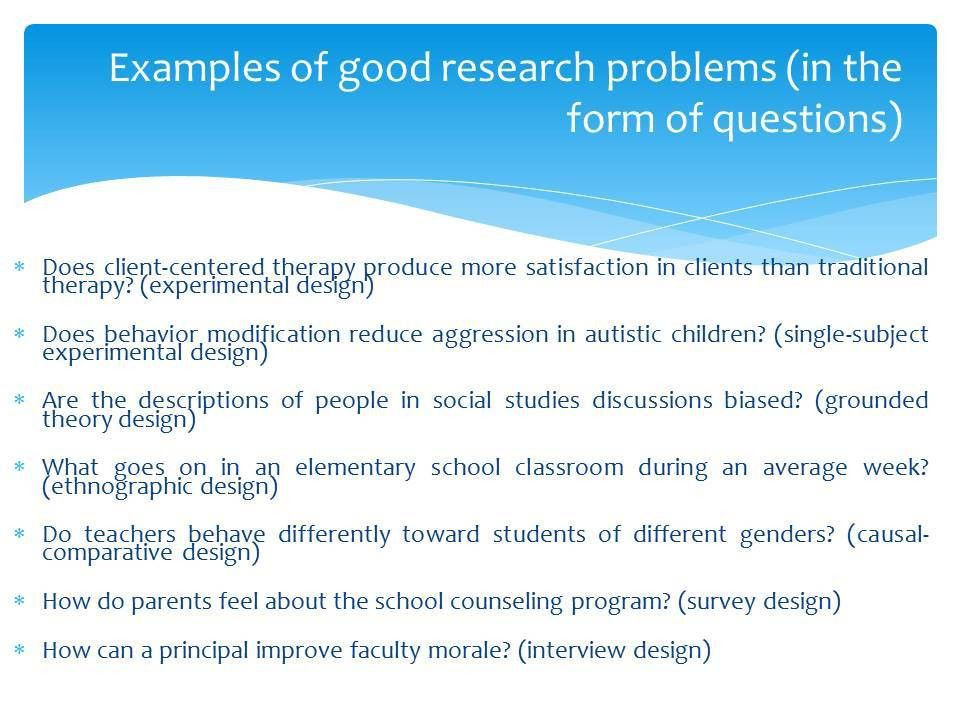 Selection of a Research Problem Presentation - BBA|mantra