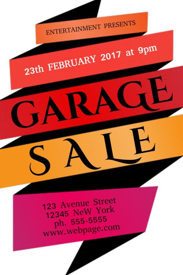 Garage Sale Flyer Template. Click to customize. | Garage Sale ...