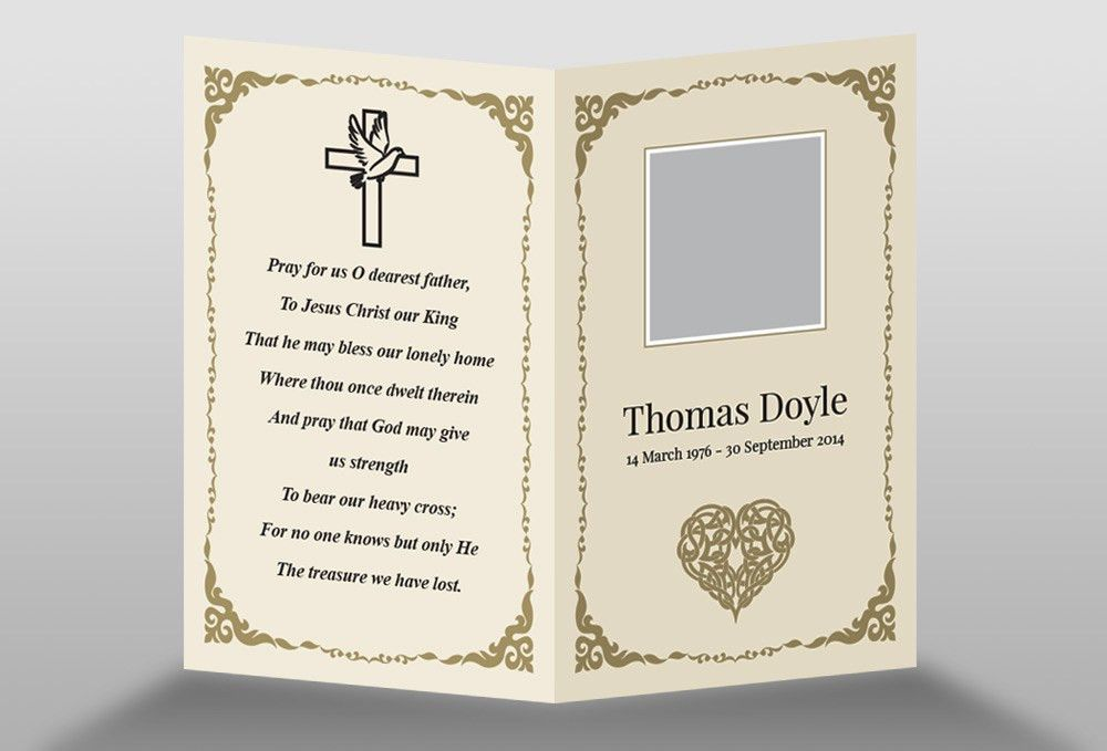 Free Memorial Card Template in InDesign Format - Download ...