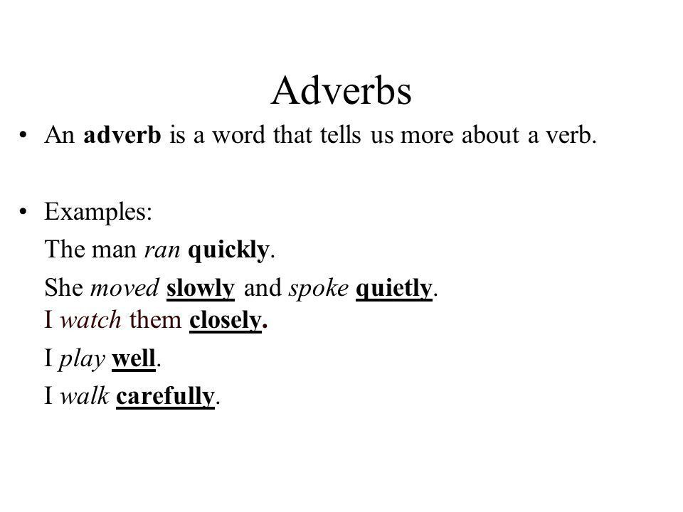 Adverbs Comparative of Adverbs Agent Nouns If-Clauses - ppt video ...
