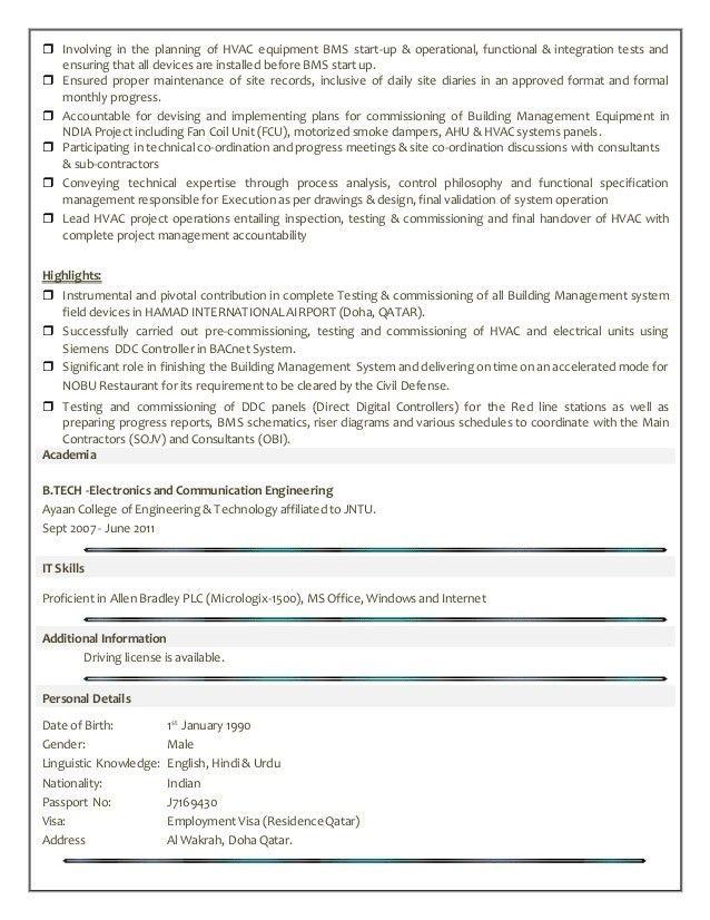 AZHAR (BMS Engineer)-CV