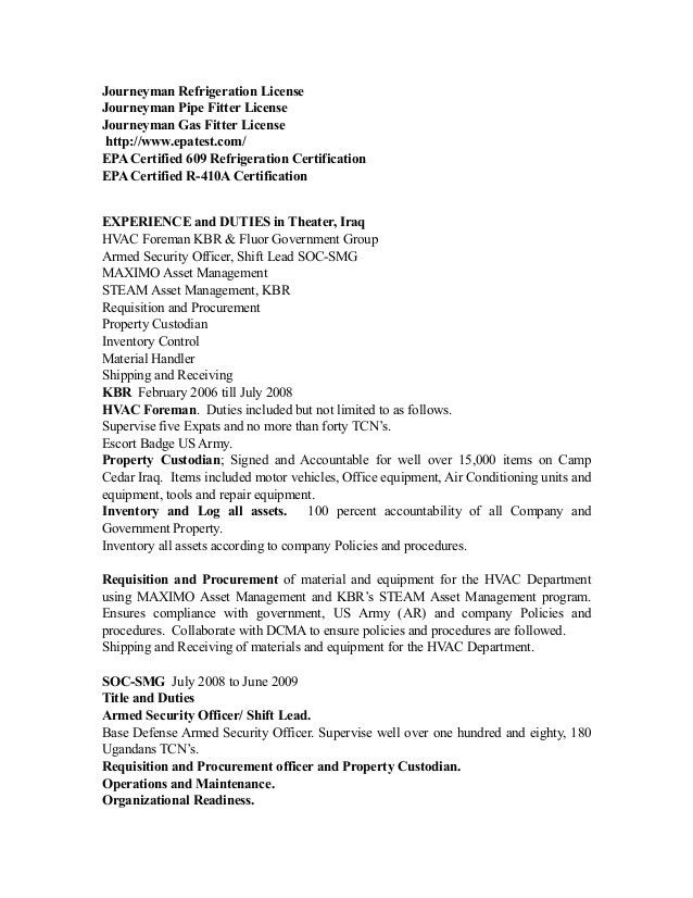 Clifford Baste HVAC Resume X
